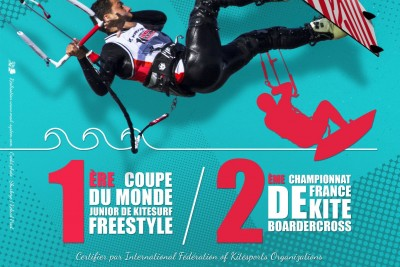 Visuel Affiche Fr 2M - 1ère Coupe du Monde Junior de Kitesurf Freestyle